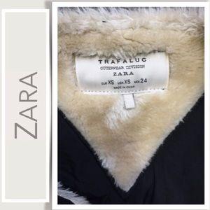 Zara Jackets & Coats - Zara Trafaluc Bomber Jacket Faux Leather, Wool